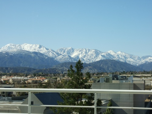 fresh snow on the San Gabriels