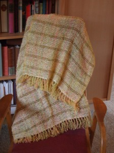 Citrus with cream alpaca weft