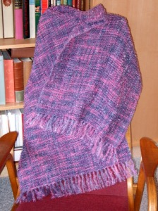 Mauve colorway, matching handpaint wool for weft