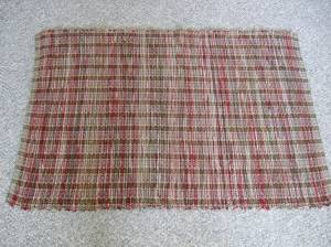 wool blanket cut into strips
