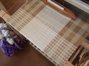 Lisa's waffle weave towels in natural colored cotton