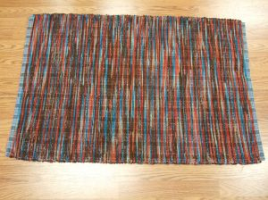 "Pendleton blanket edge selvage (""worms"") - made 2 alike"