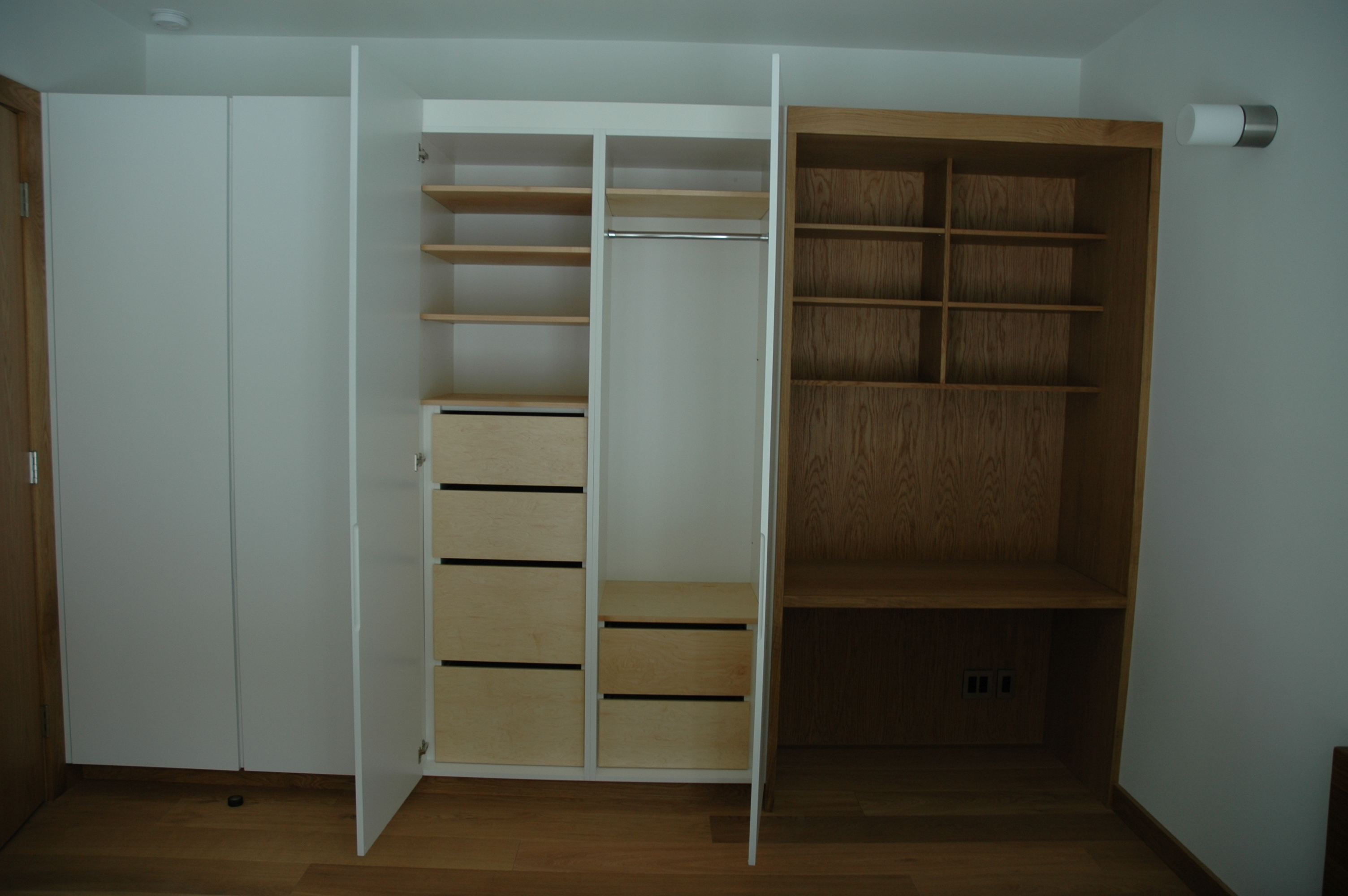 Closet With No Desk In The Master Bedroom Bathroom