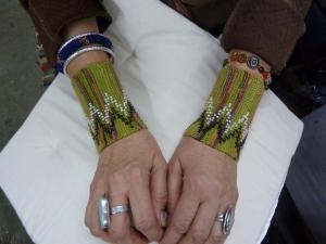 Sara's cuffs