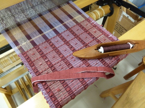 fabric 1 being woven
