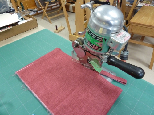 fabric 1 being cut