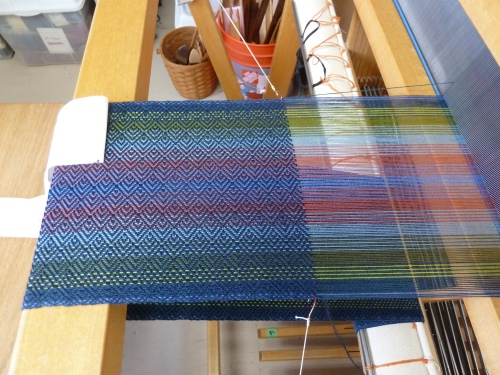 perle cotton warp and tencel weft