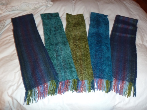 5 scarves completed in October 2013