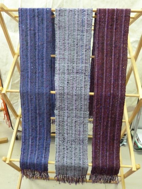 more finished Blackberry scarves!