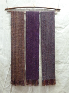 finished Bright Autumn scarves #1