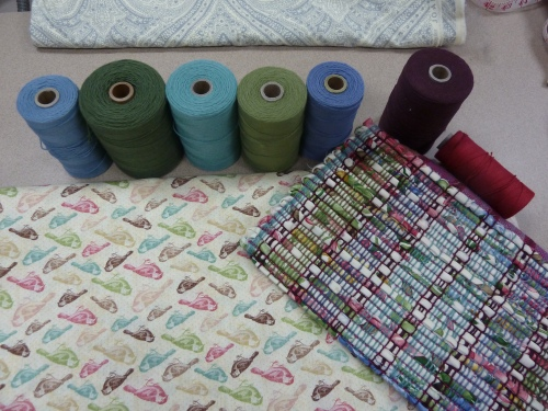"""warp colors and """"bird fabric"""" to match the older mat pictured"""