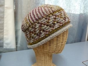handspun multicolor cabled yarn & gray Cormo #2