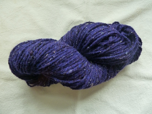 first skein of 18 oz merino/alpaca/BFL with some silk noil