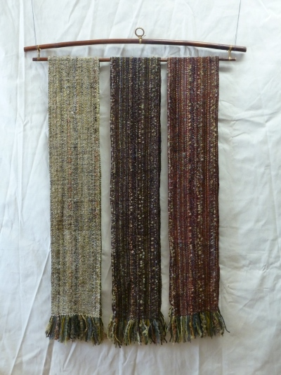 3 colors of rayon chenille