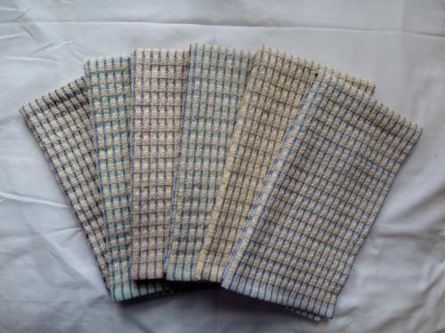 Set 1 - doubleweave check towels