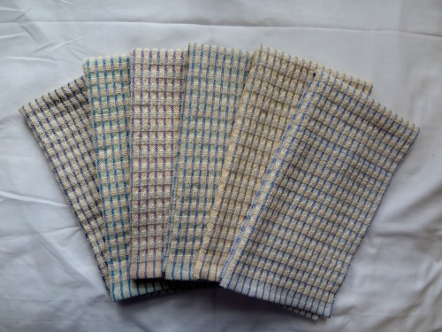 Set 1 - doubleweave check towels