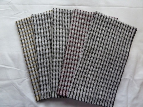 Set 2 - doubleweave check towels