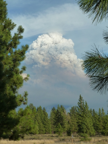 Taken from our house on July 16 as the northern part of the fire started to blow up