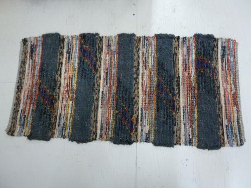 R188 & R189 - bands of charcoal fringe alternated with bands of wooly worms in a color progression
