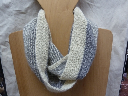 Rayas Cowl using Toots LeBlanc breed-specific fingering weight