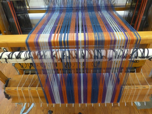 Country Rustic warp on the loom