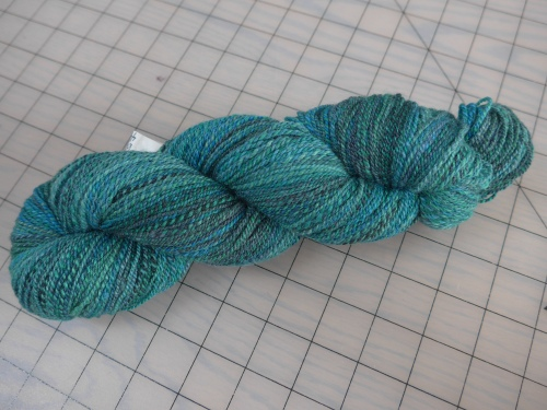 JM's dyed roving spun into 2-ply