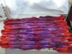 polwarth&silk roving dyed