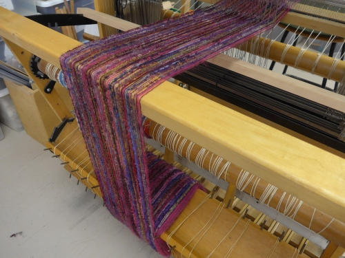 purpleish on loom