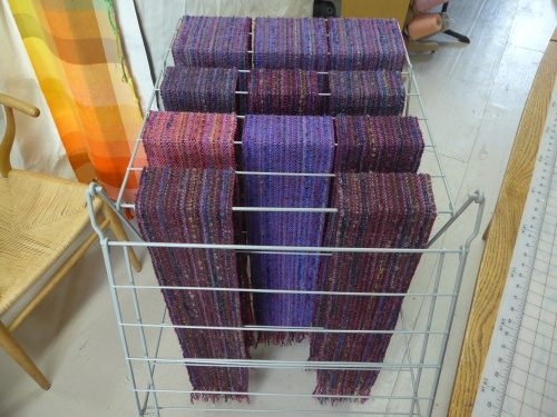 purpleish scarves