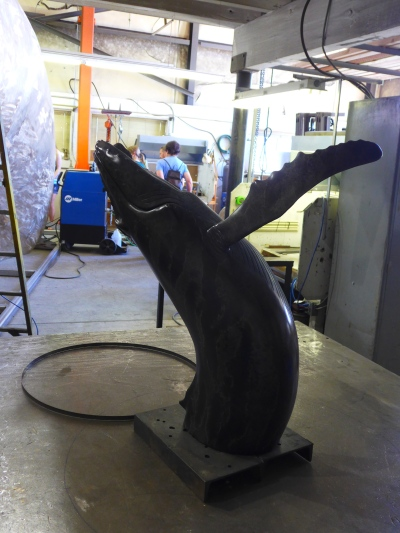 model for blue whale sculpture