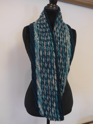 Two Knitted Scarves Twisp Of Fate